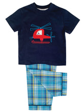 Load image into Gallery viewer, Red Helicopter Pyjama for boys ages 1-10 years - MV 1330