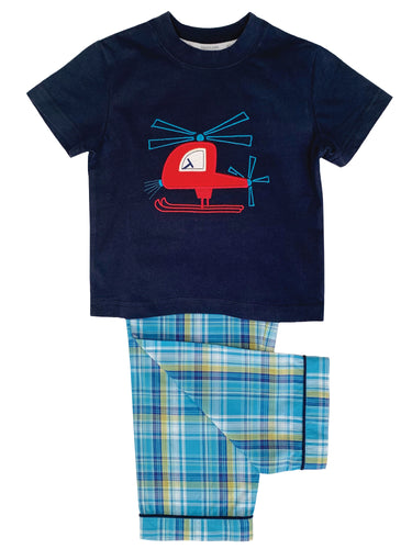 Red Helicopter Pyjama for boys ages 1-10 years - MV 1330