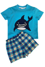 Load image into Gallery viewer, Shark Summer Pyjamas in Blue