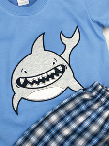 Smiley Shark Shortie Pyjamas