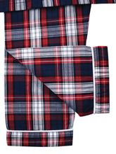 Load image into Gallery viewer, red and navy check boys pyjamas