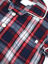 Load image into Gallery viewer, Red and Navy Check Summer Check Pyjamas