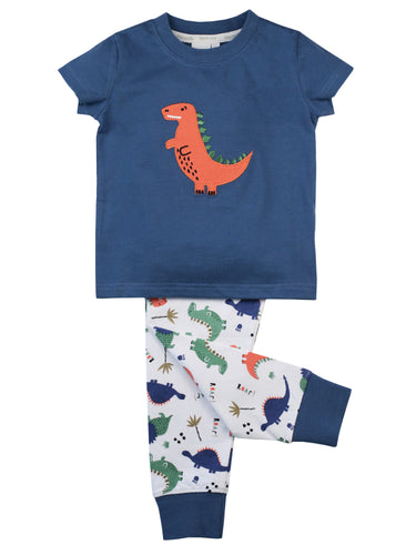boys skinny fit cotton pyjamas