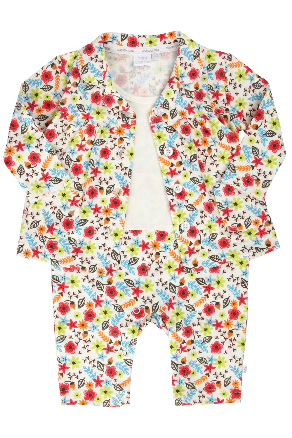 Baby Mock Pyjamas for Girls ages 0-18 months