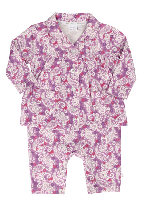 Baby All-in-One Pyjama to look like a big girls PJs ages 0-18 months