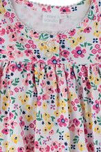 Load image into Gallery viewer, Summer flowers lounge Dress for Girls ages 1-8 years