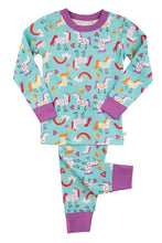 Load image into Gallery viewer, Unicorn print skinny fit Pyjama for Girls ages 1-10 years