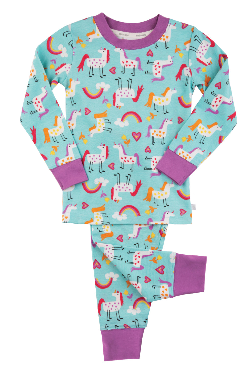 Unicorn print skinny fit Pyjama for Girls ages 1-10 years
