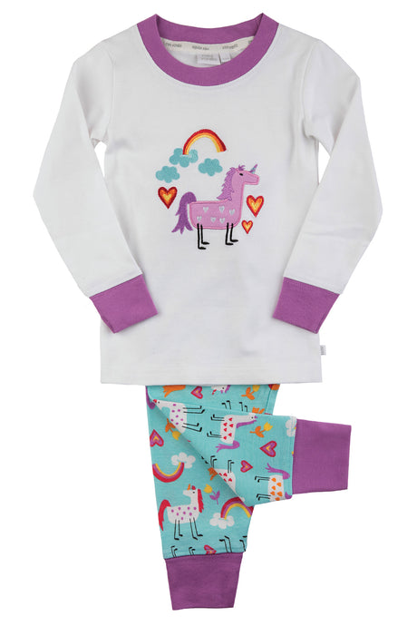 Pink & Purple Unicorn Pyjamas for Girls ages 1-10 years