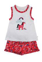Load image into Gallery viewer, Unicorn short summer Pyjamas for Girls aged 1-10yrs