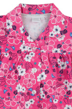 Load image into Gallery viewer, Pretty Pink Floral Jersey Girls Traditional Pyjamas