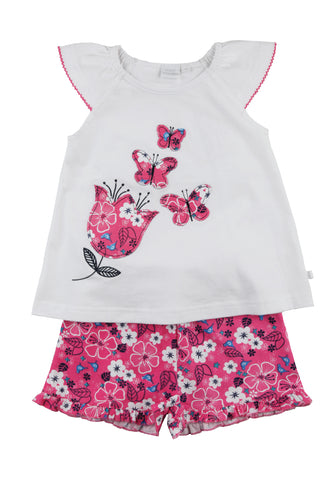 Girls short summer Pyjama with Butterflies ages 1-10 years