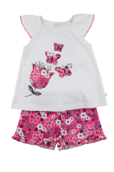 Girls short summer Pyjama with in Pink ages 1-10 years - MV 2303