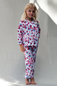 Girls Rose Traditional Pyjamas