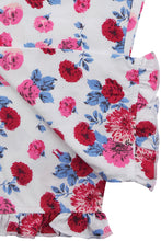 Load image into Gallery viewer, Pretty Pink Rose Print Butterfly Jersey Girls Winter Pyjamas