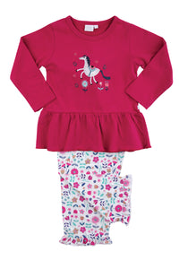 Girls Unicorn Jersey Girls Pyjamas - MV 2312