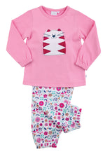 Load image into Gallery viewer, Girls Cat Jersey Pink Pyjamas - MV 2313