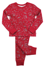 Load image into Gallery viewer, Girls Glitter Print Slim Fit PJs - MV 2317