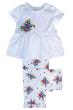 Load image into Gallery viewer, Summer Bouquet print pyjamas for Girls aged 1-10 Years - MV 2323