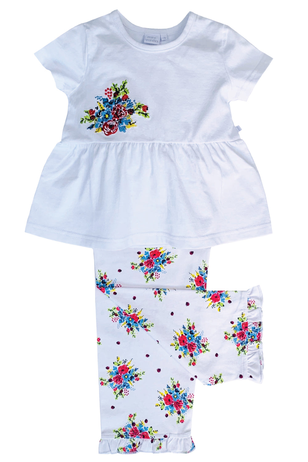 Summer Bouquet print pyjamas for Girls aged 1-10 Years - MV 2323