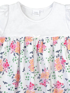 Pink floral girls cotton nightdress