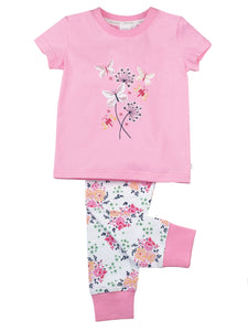 Girls cotton Skinny Fit PJs'