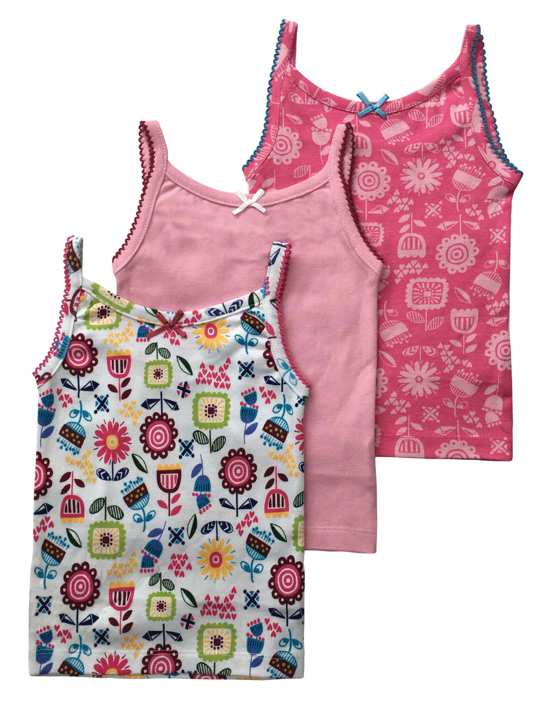 Pack of 3 vests for Girls - ages 3-6 years
