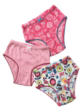 Load image into Gallery viewer, Pack of 3 Girls briefs - sizes 3-10 years