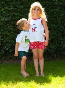 Unicorn short summer Pyjamas for Girls aged 1-10yrs