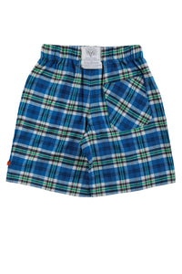 DALE Blue Check Pyjama shorts for youngsters ages 9-16 years