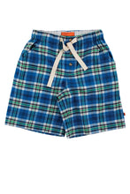 Load image into Gallery viewer, DALE Blue Check Pyjama shorts for youngsters ages 9-16 years