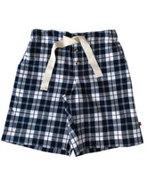 Load image into Gallery viewer, Navy Check Pyjama shorts