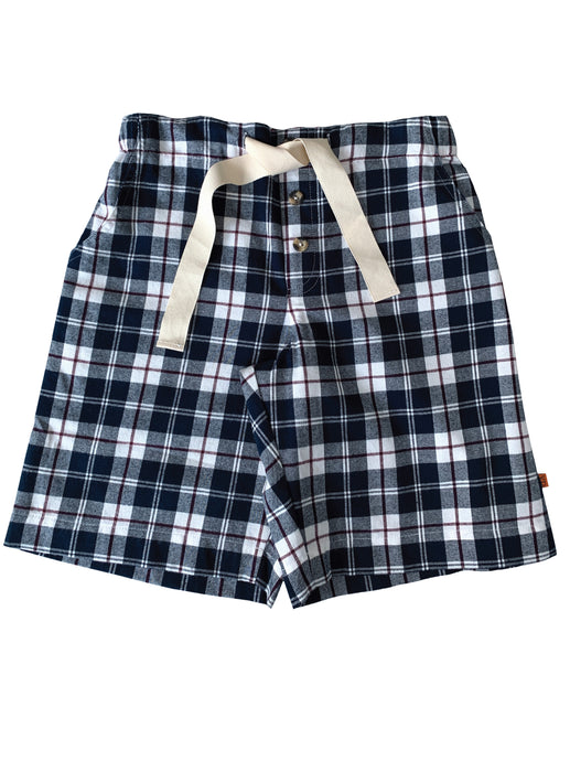 Navy Check Pyjama shorts
