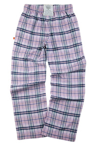 FAIRFORD Girls Lilac Check PJ trousers for ages 9-16 years