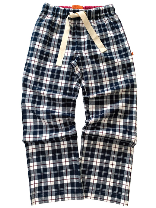 Unisex Navy Check Lounge Pants