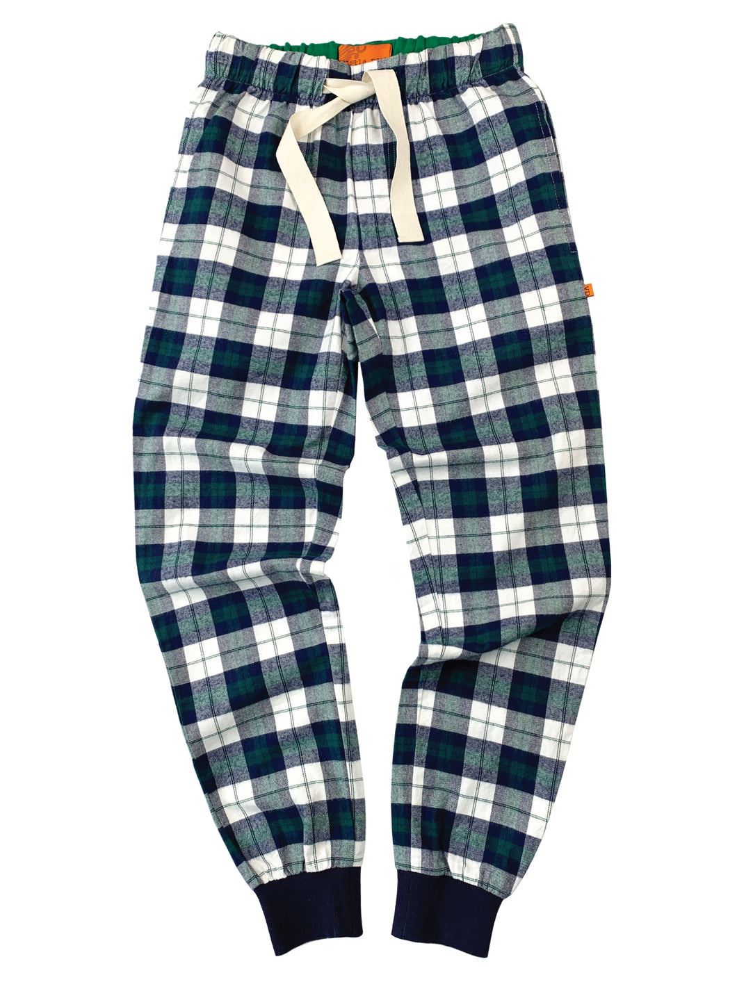 Unisex Navy & Green Check Jogger Style Lounge Pants
