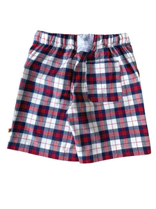 Red Check Pyjama shorts