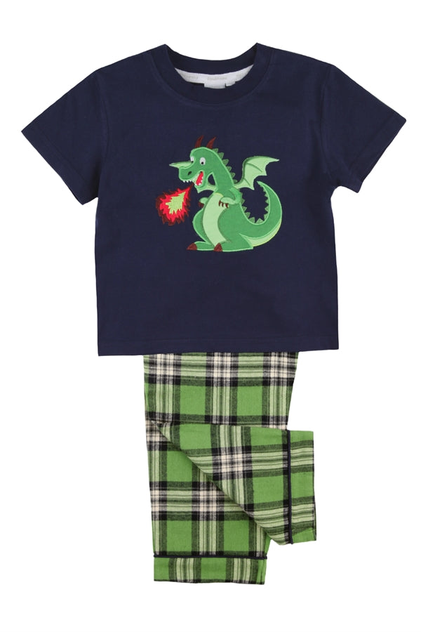 Dragon Pyjama Set for Boys Aged 1-10 Years Old - Mini Vanilla London