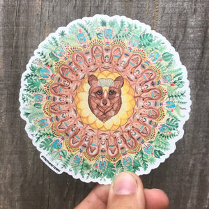 Bear Mandala Sticker