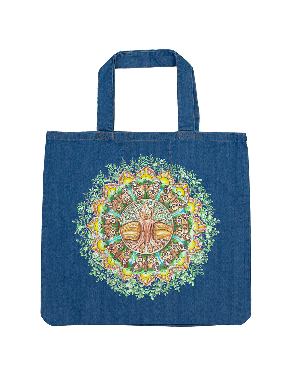Roots and Wings Organic Denim Tote