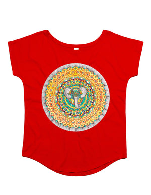 Ladies Elephant Organic T-Shirt Red