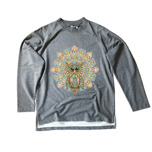 Owl Organic Sweatshirt Charcoal Grey