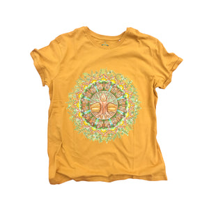 Roots and Wings Organic T-Shirt Mustard Yellow
