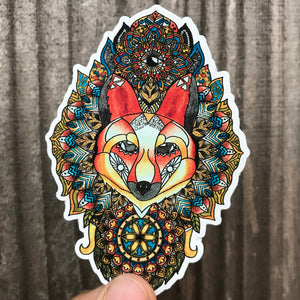 Fox Mandala Sticker