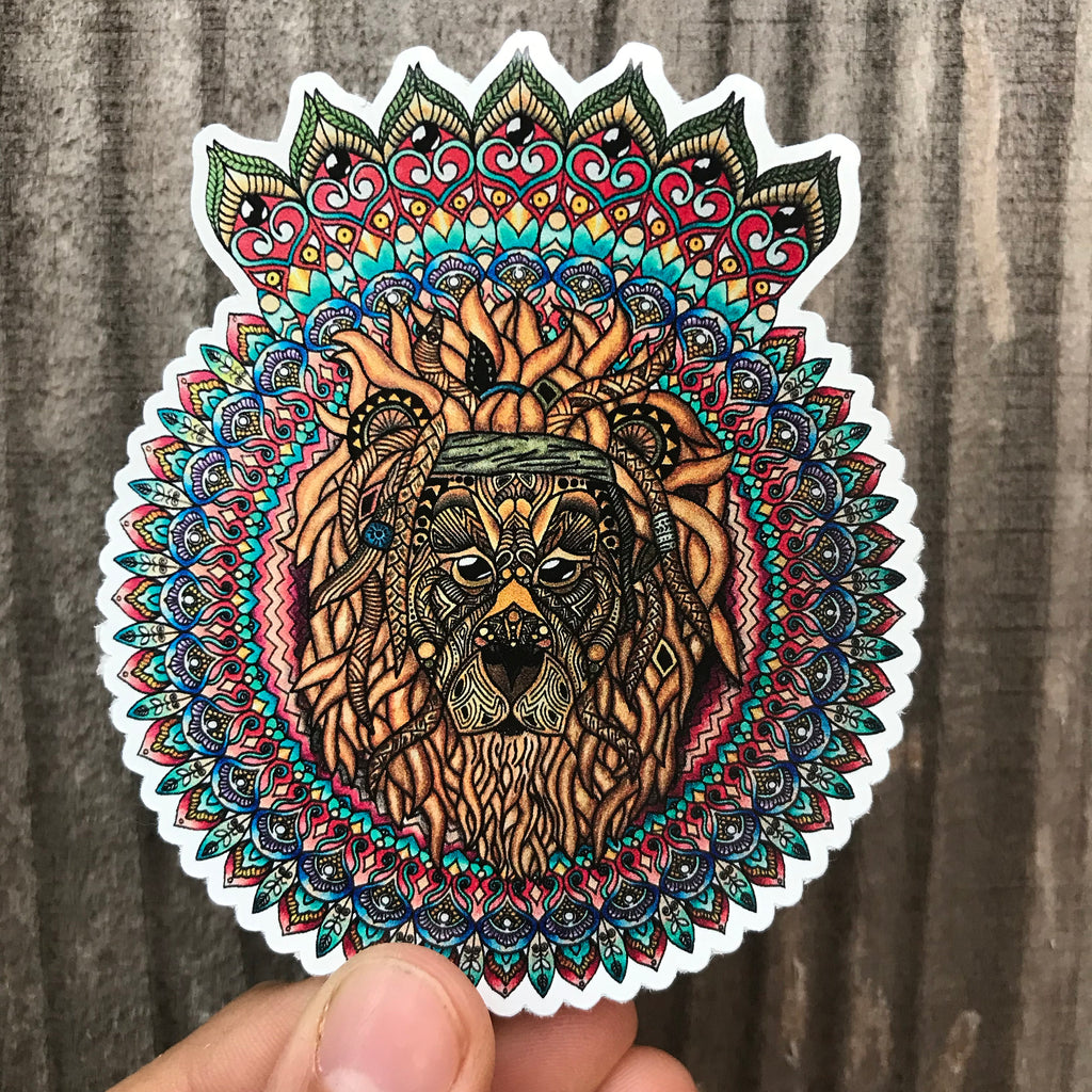 Mufasa Mandala Sticker