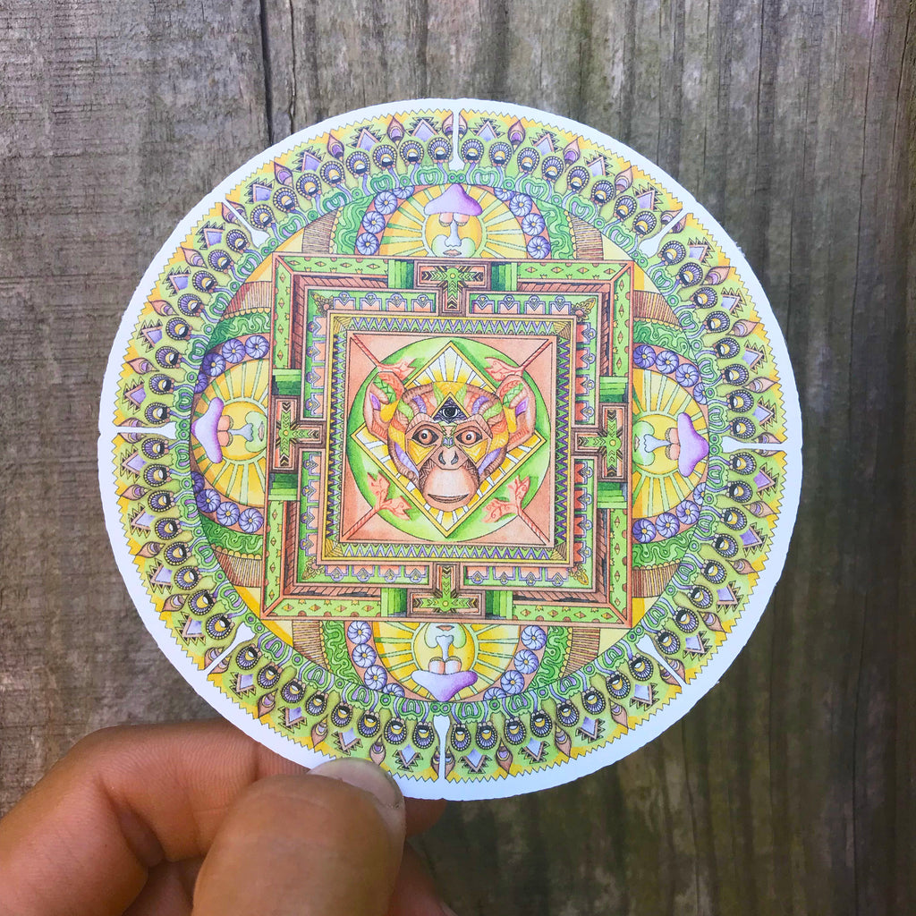 Monkey Mandala Sticker