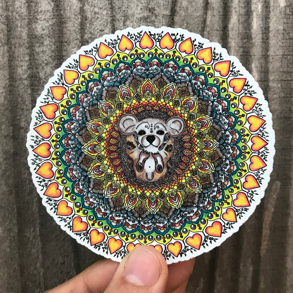 Hedgehog Mandala Sticker