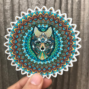 Wolf Mandala Sticker