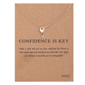 "PATCO ""CONFIDENCE IS KEY"" NECKLACE"