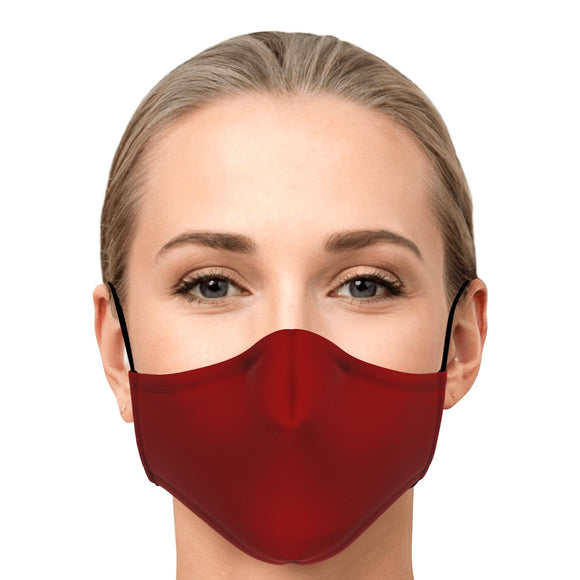 Face Mask with 2 x PM 2.5 filters - Red